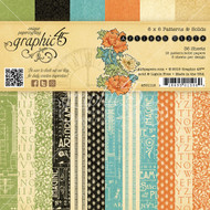 Graphic 45 Artisan Style 6 x 6 Patterns and Solids