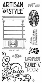 Graphic 45 Artisan Style Cling Stamp 1