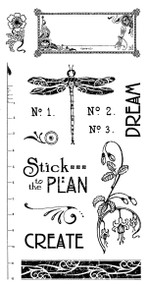 Graphic 45 Artisan Style Cling Stamp 2