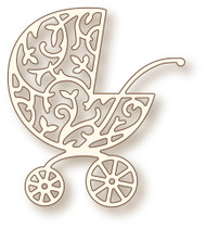 Wild Rose Studio Cutting Die - Ornate Pram