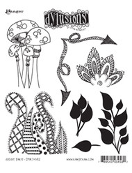 Dyan Reaveley's Doodle Parts Rubber Stamp