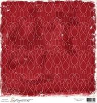 Magnolia 12 x 12 Paper Vintage Christmas RED NOEL