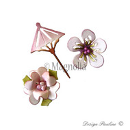 Magnolia DooHickey Sakura Flower and Unbrella 1
