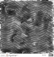 Magnolia 12 x 12 Paper Bon Voyage BLACK ZEBRA