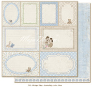 Maja Design Vintage Baby - Journaling Cards Blue