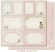 Maja Design Vintage Baby - Journaling Cards Pink