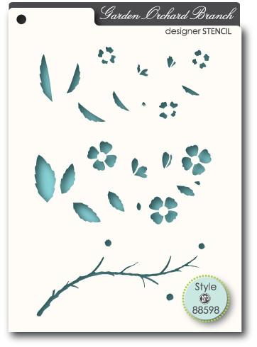Memory Box Stencil Orchard Branch 88598