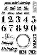 Memory Box Clear Stamp Party Time