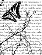 Memory Box Open Studio Cling Stamp Butterfly Journal