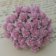 Wild Orchid Crafts 15 mm Baby Pink Open Rose