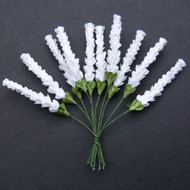 Wild Orchid Crafts Heather Stems White