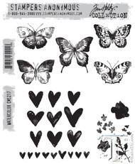Tim Holtz Stampers Anonymous Cling Stamp Watercolor