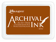 Ranger Archival Ink Pad - Sepia