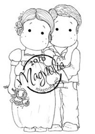 Magnolia LOVING BRIDAL COUPLE Rubber Stamp