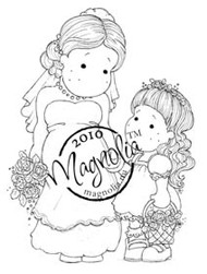 Magnolia BRIDE AND BRIDESMAID Rubber Stamp
