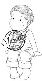 Magnolia SITTING WEDDING EDWIN Rubber Stamp