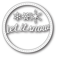 Memory Box Die Stitched Let It Snow Circle Frame (MB-99270)