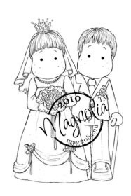 Magnolia CLASSIC BRIDAL COUPLE Rubber Stamp