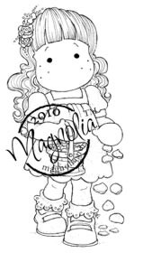 Magnolia FLOWER GIRL TILDA Rubber Stamp