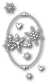 Poppystamps Craft Die - Shasta Oval Frame (PS-1262)