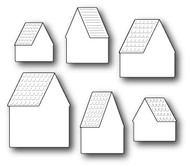 Poppystamps Craft Die - Alpine House Roofs and Background (PS-1265)
