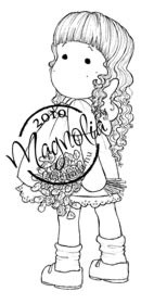 Magnolia TILDA WITH CURLS Rubber Stamp