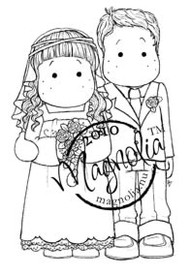 Magnolia BRIDAL COUPLE Rubber Stamp