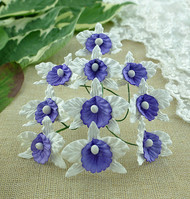 Wild Orchid Crafts Orchids Small White and Lilac/Blue