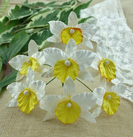 Wild Orchid Crafts Orchids Large White and Yellow