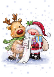 Wild Rose Studio Santa and Rudolph