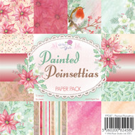 Wild Rose Studio Painted Poinsettias 6 x 6 Paper Pack