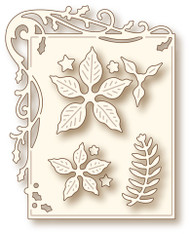 Wild Rose Studio Cutting Die Holly Frame and Poinsettia