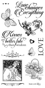 Graphic 45 Mon Amour Cling Stamp 3