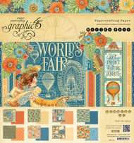 Graphic 45 World's Fair 8 x 8 Paper Pad