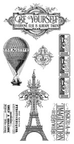 Graphic 45 World's Fair Cling Stamp 2