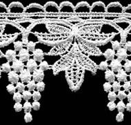 Venise Lace Trim Galloon White 2-3/4