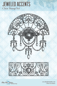 Blue Fern Studios Clear Stamp - Jeweled Accents (144974)