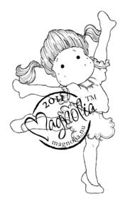 Magnolia Stamps DANCING QUEEN TILDA Rubber Stamp