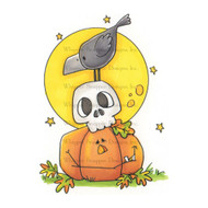 Whipper Snapper Designs - Halloween Stack Cling Mounted Rubber Stamp (CY645)