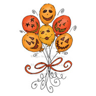 Whipper Snapper Designs - Halloween Balloons Cling Mounted Rubber Stamp (CU050) 1