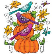 Whipper Snapper Designs - Fall Motif Cling Mounted Rubber Stamp (MU067)