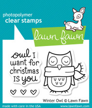 Lawn Fawn - Winter Owl Stamp Set (LF-434)