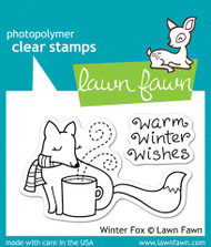 Lawn Fawn - Winter Fox Stamp Set (LF-363)