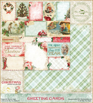 Blue Fern Studios - Vintage Christmas - 12x12 Greeting Cards