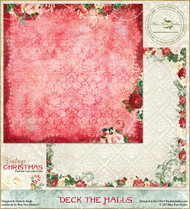 Blue Fern Studios - Vintage Christmas - 12x12 Deck the Halls