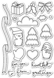 Poppystamps - You Keep Me in Stitches - Clear Stamp Set