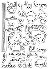 Poppystamps - Yuletide Birdies - Clear Stamp Set