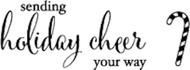 Memory Box - Cling Stamp - Holiday Cheer
