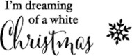 Memory Box - Cling Stamp - White Christmas
