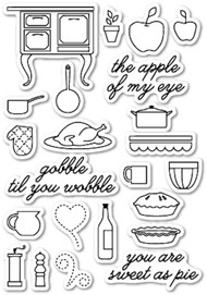 Memory Box - Cling Stamp - Gobble Til You Wobble